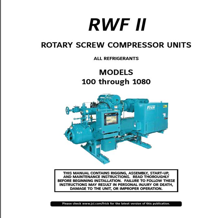 frick rwb ii screw compressor manual screw compressors specialist rh screwcompressorsspecialist com Frick Ammonia Screw Compressor Diagram Frick Compressor Manuals RWB